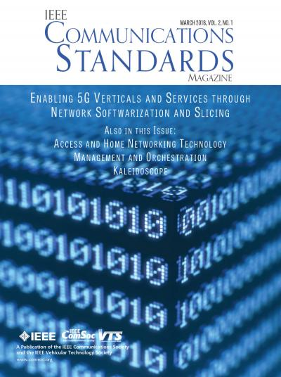 IEEE Communications Standards Magazine March 2018 Cover