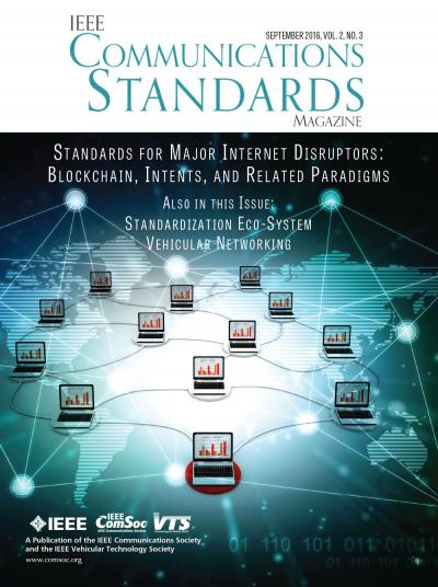IEEE Communications Standards Magazine September 2018 Cover