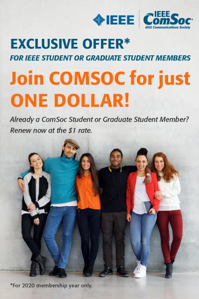 ComSoc $1 Student Membership Promo Banner