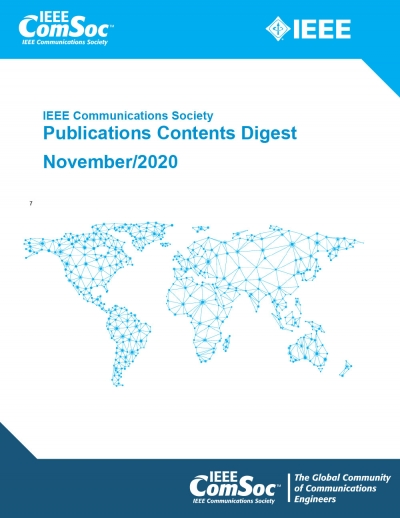 Publications Contents Digest November 2020 Cover