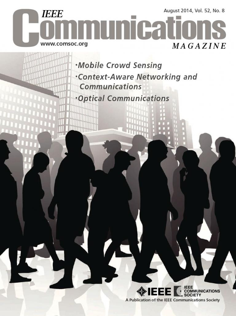 IEEE Communications Magazine August 2014 Cover