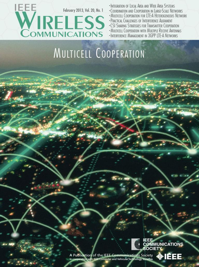IEEE Wireless Communications February 2013 Cover