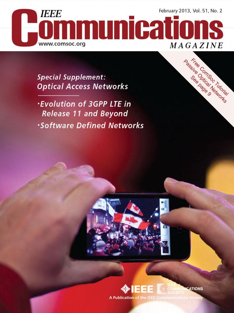 IEEE Communications Magazine February 2013 Cover