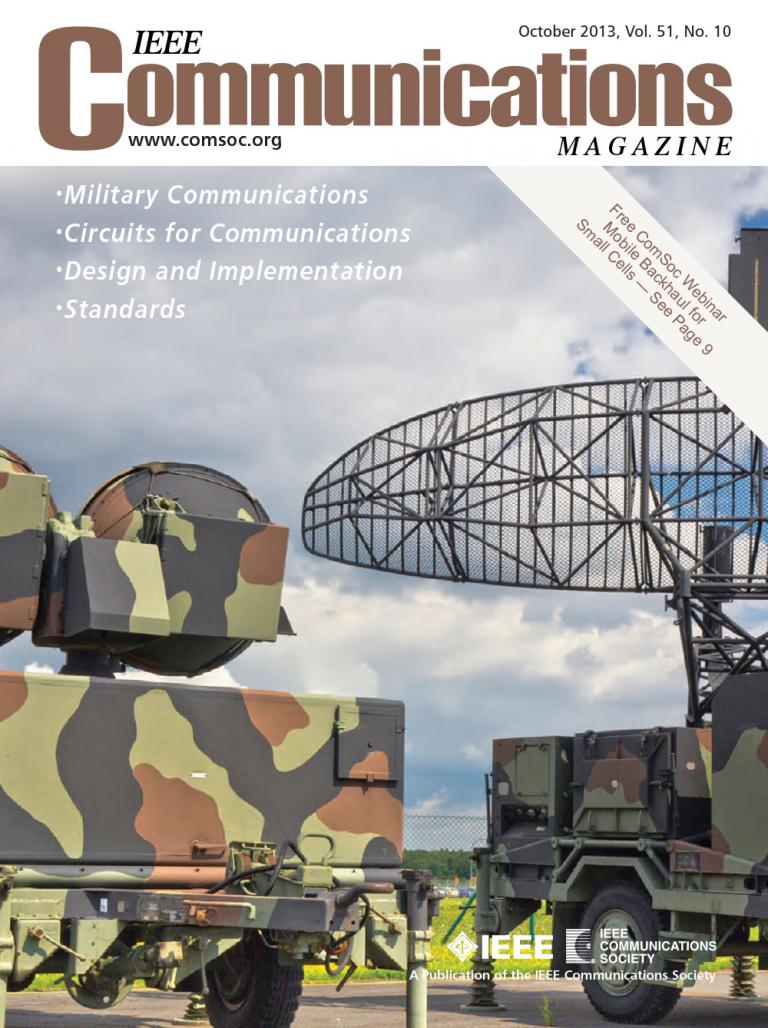 IEEE Communications Magazine October 2013 Cover