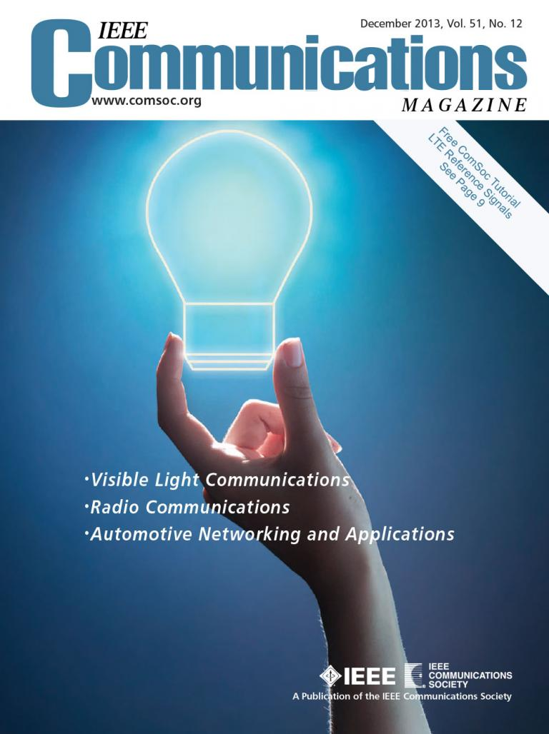 IEEE Communications Magazine December 2013 Cover