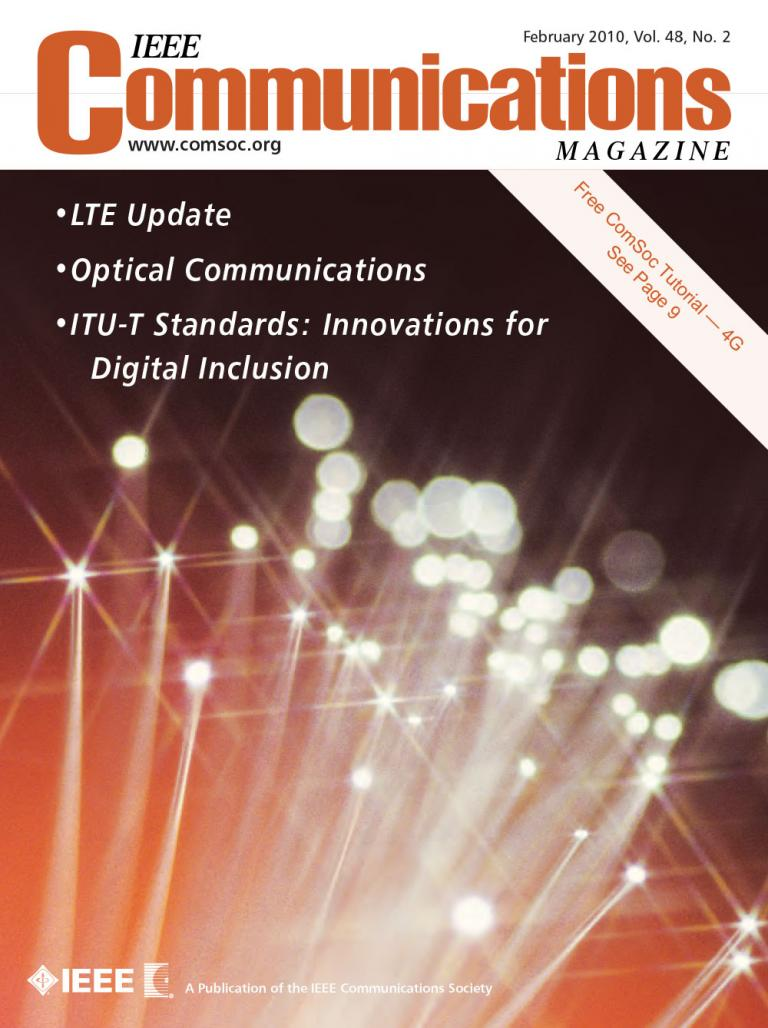 IEEE Communications Magazine February 2010 Cover