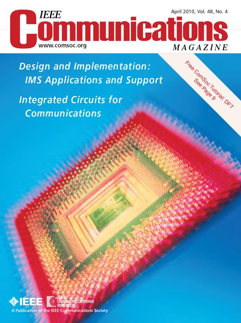 IEEE Communications Magazine April 2010 Cover