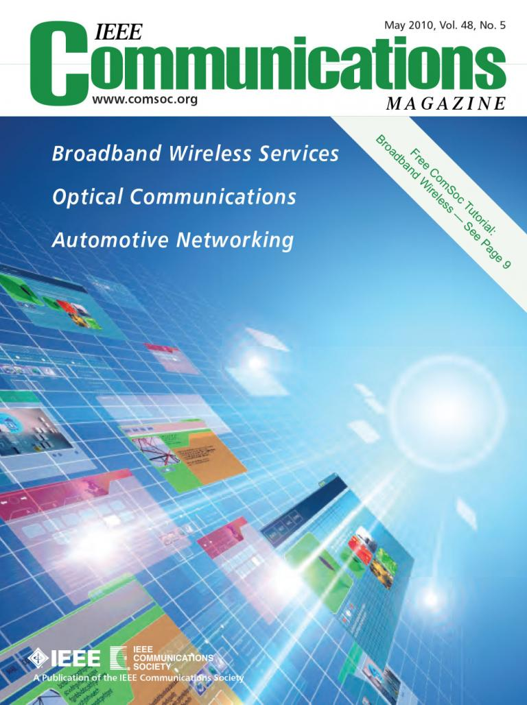 IEEE Communications Magazine May 2010 Cover