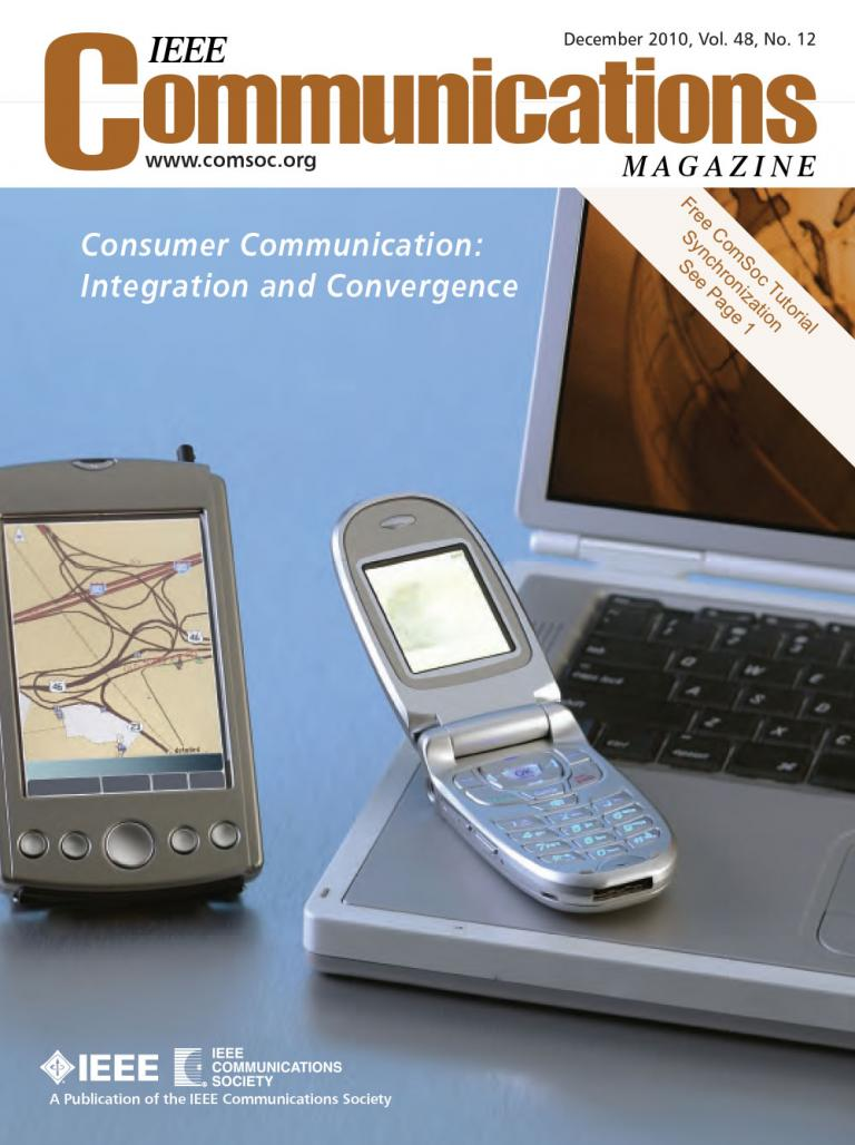 IEEE Communications Magazine December 2010 Cover