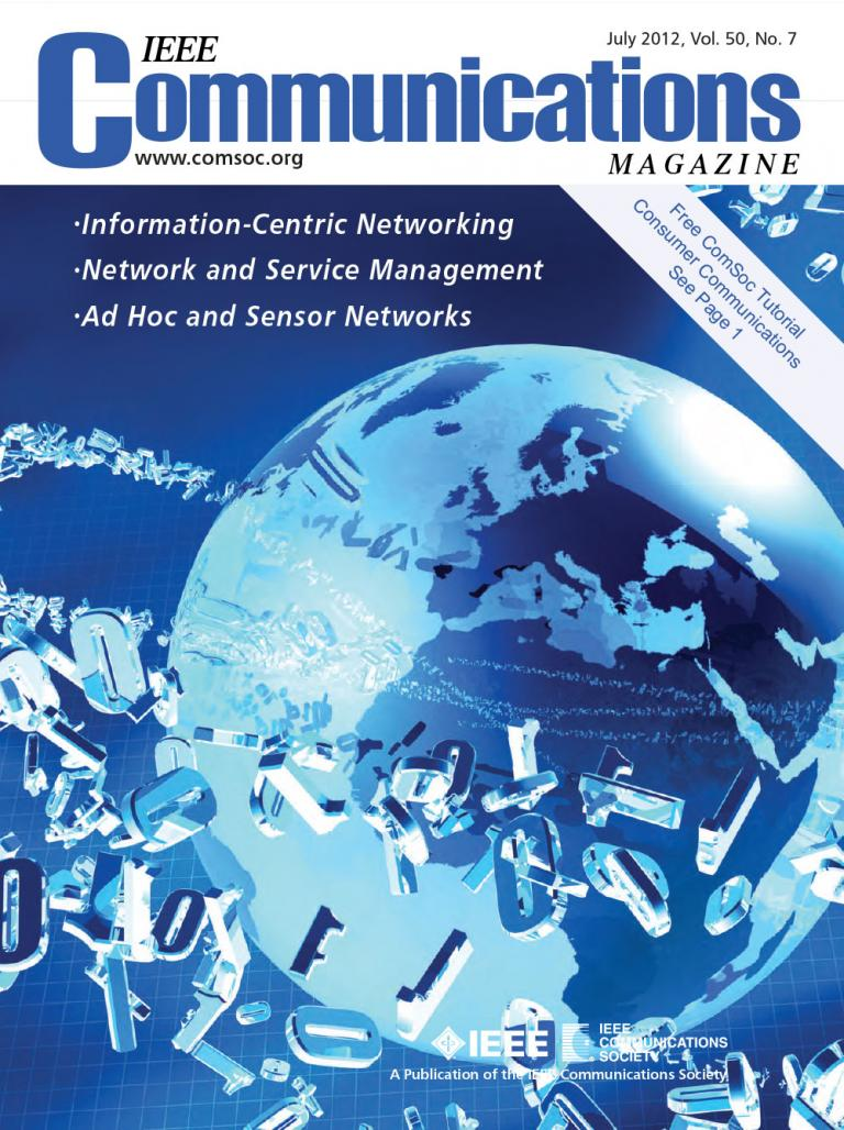 IEEE Communications Magazine July 2012 Cover