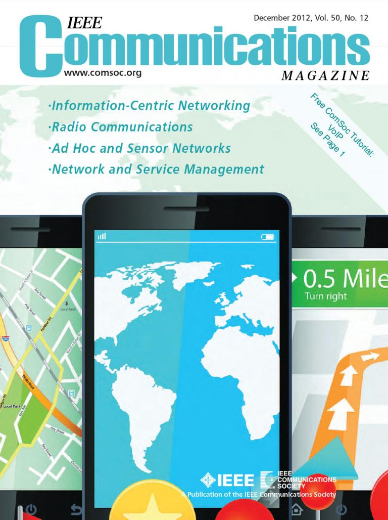 IEEE Communications Magazine December 2012 Cover